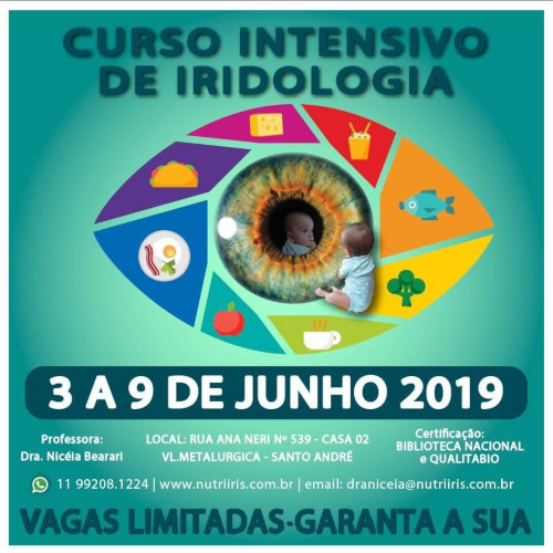 Curso Intensivo de Iridologia - Jun/2019